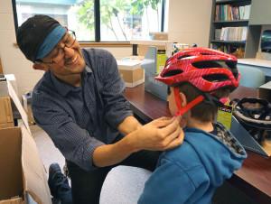 Bike Helmets Giveaway for Middle Schools
