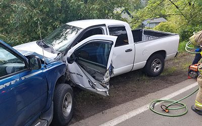 Car Crosses Centerline Neck Injuries