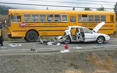 School Bus Crash Causes Brain Damage
