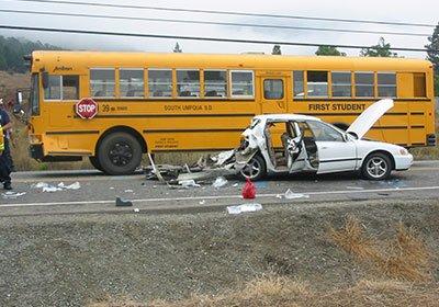 School Bus Crash Causes Brain Damage